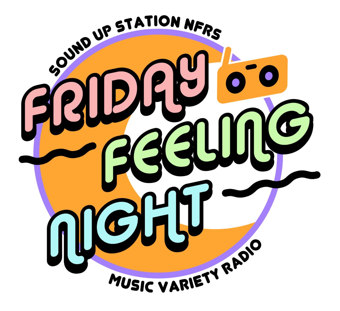 ネットラジオ「FRIDAY FEELING NIGHT」のロゴを制作いたしました。