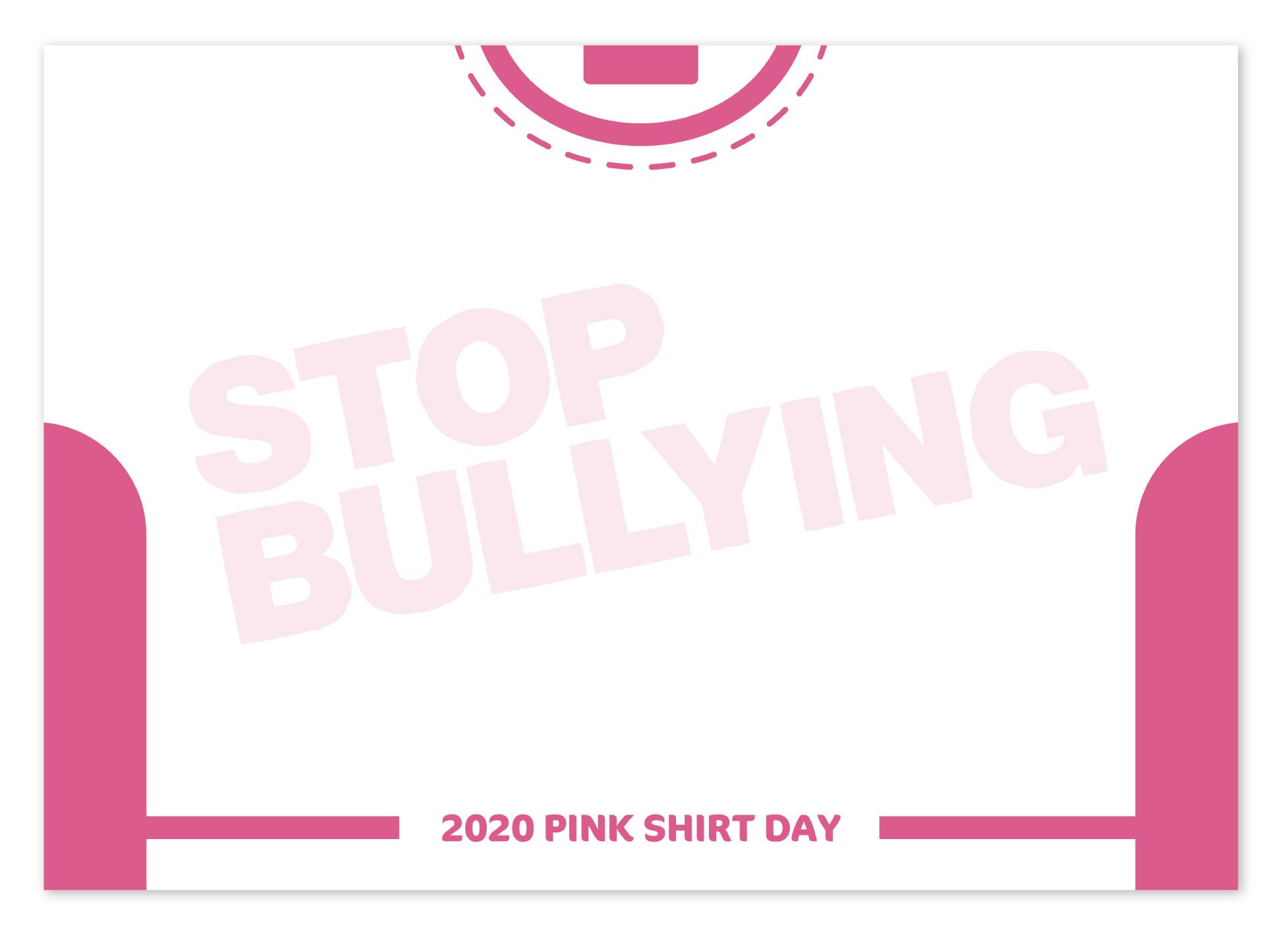 いじめに反対する「PINK SHIRT DAY」のイベントが開催され、そちらのイベントで使用されるフリップのデザインを担当いたしました。