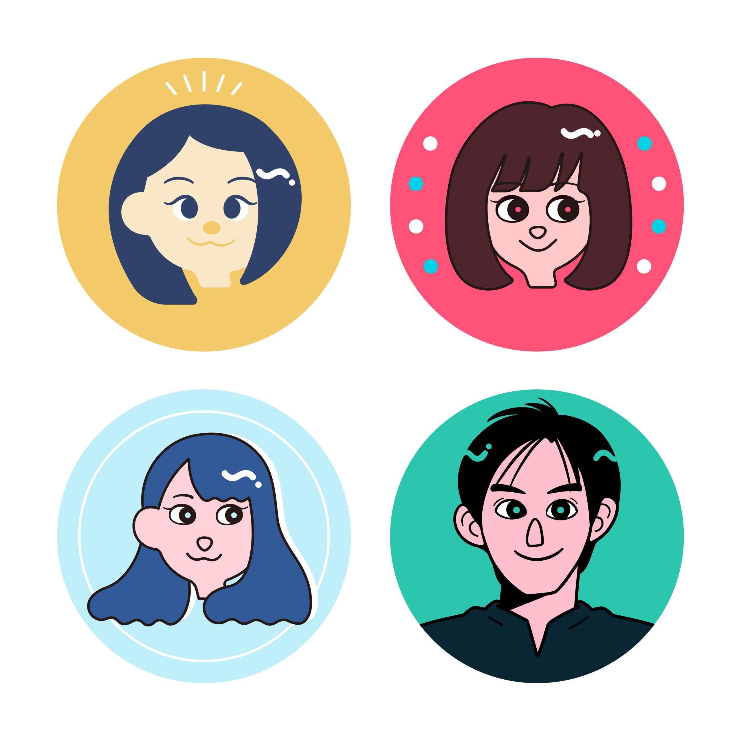 Crevo株式会社様の、社員のみなさまの似顔絵を制作いたしました。それぞれお好みのタッチ・雰囲気で制作させていただいています。
